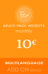 Multi Page Website multi language add on service