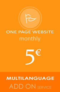 One Page Website multi language add on service