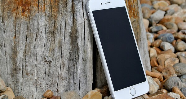 apple mobile on the wood